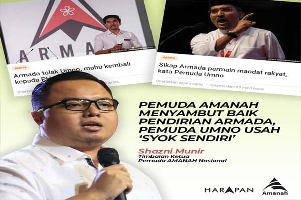 Pemuda Amanah sambut baik pendirian Armada untuk kembali bersama PH