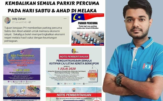 AMK Melaka gesa kerajaan negeri kembalikan parkir percuma Sabtu, Ahad
