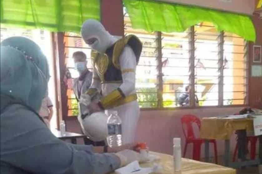 Power Rangers mengundi di Sabah