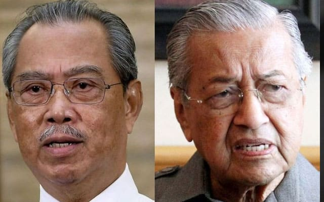 Gempar !!! Mahathir sokong Muhyiddin dalam diam?