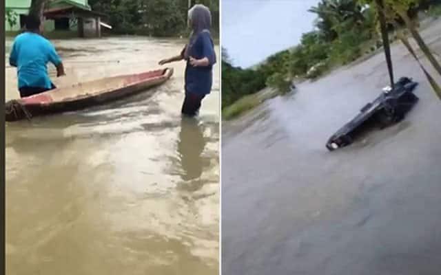 CEMAS | Pacuan empat roda dihanyut banjir ketika cuba hantar bantuan makanan