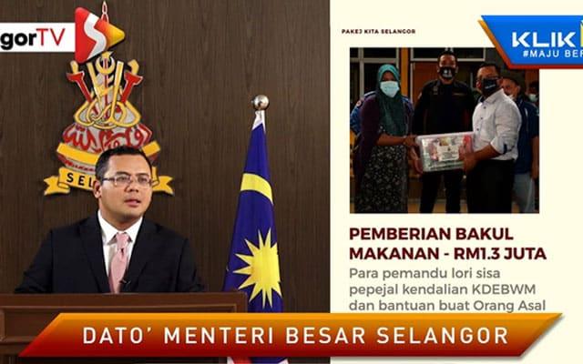 PKP : K'jaan Selangor salur bantuan makanan kepada penduduk terjejas kerana Covid-19
