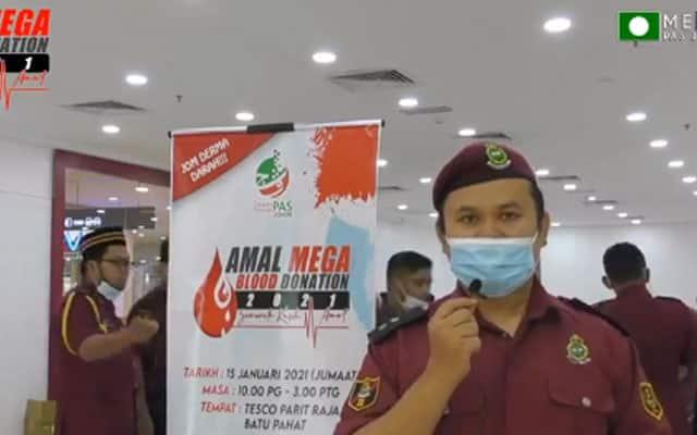 Pemuda Pas anjur 'Mega Blood Donation' di pusat beli belah waktu PKP