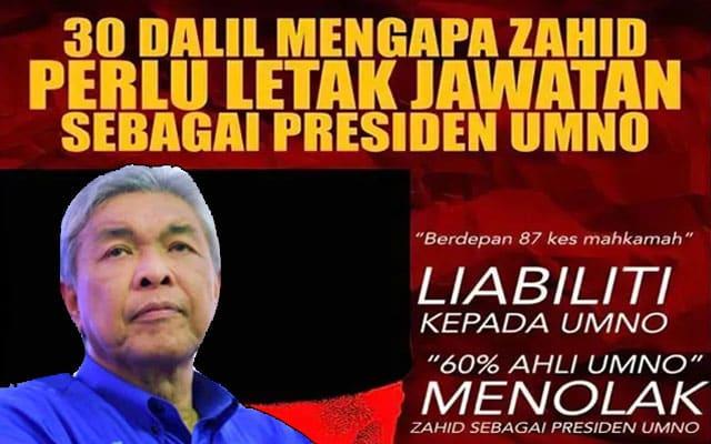 Gempar !!! Menjelang PAU, ahli Umno dapat buku '30 dalil' tolak Zahid dihantar ke rumah