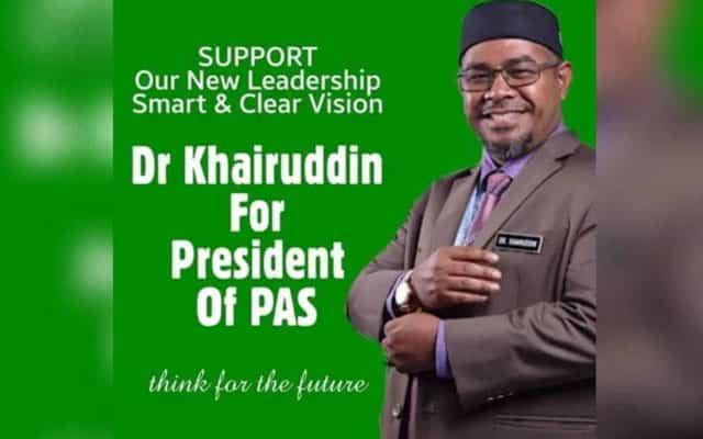 Poster tular 'Khairuddin for President of Pas'